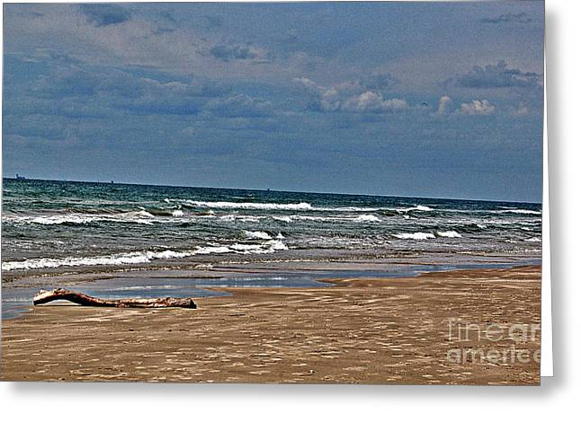 Sea Sand Greeting Card by Ken Williams
