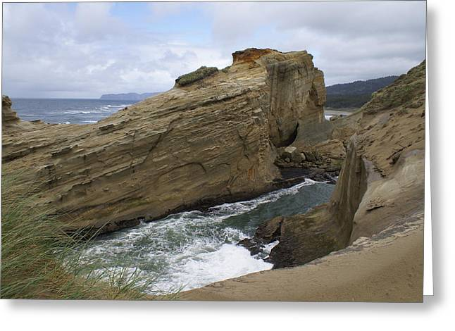 Greeting Card featuring the photograph Sea Side by Jerry Cahill