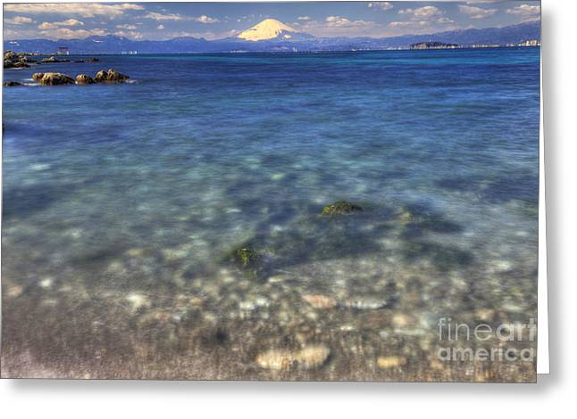 Greeting Card featuring the photograph Sea Side by Tad Kanazaki