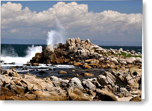 Greeting Card featuring the photograph Sea Sky And Clouds by Johanne Peale
