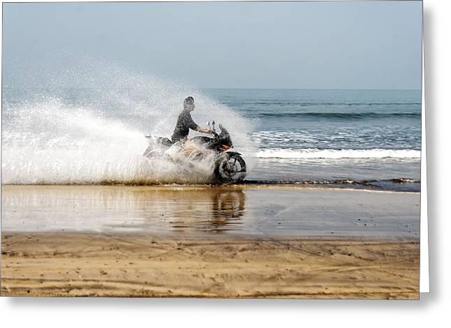 Sea Spray Greeting Card by Kantilal Patel