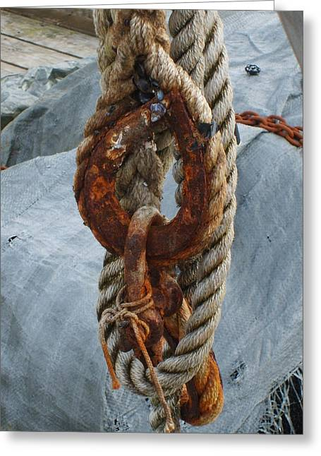 Seafarer's Rigging Greeting Card by Judith Hagen