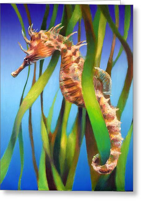 Seahorse II Among The Reeds Greeting Card