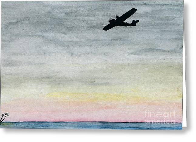 Searching The Tropics - Pby Catalina On Patrol Greeting Card by R Kyllo