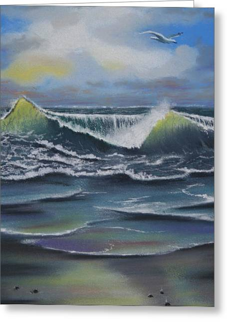 Seascape 3 Greeting Card by Charles Hubbard