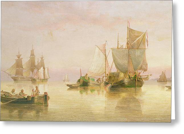 Seascape Greeting Card by Henry Redmore