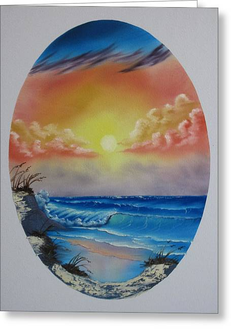 Seascape  Greeting Card by Kevin Hill