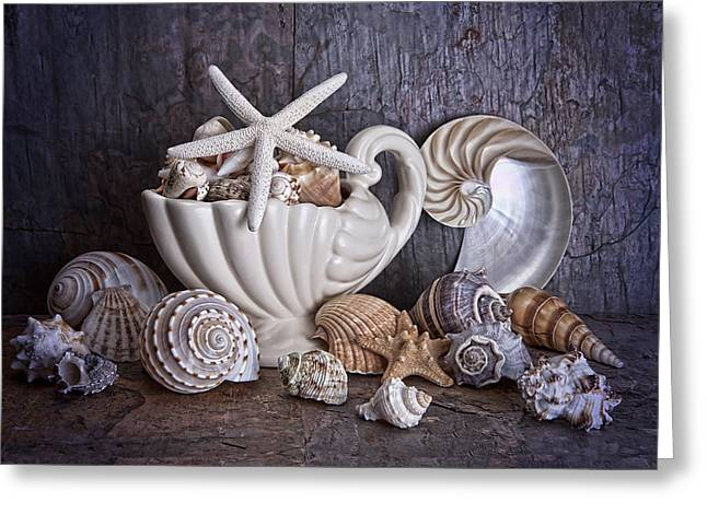 Seashells Greeting Card by Tom Mc Nemar