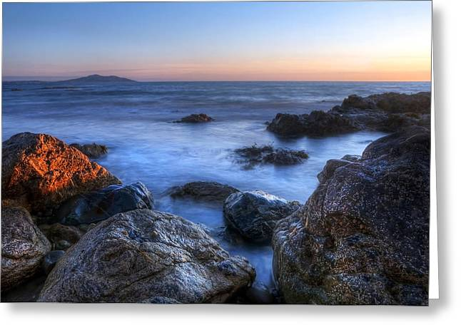 Seaside Rocks Greeting Card by Svetlana Sewell