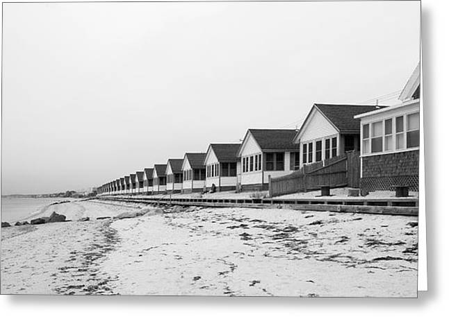 Seaside Sentinels Perspective Provincetown Greeting Card by Michelle Wiarda