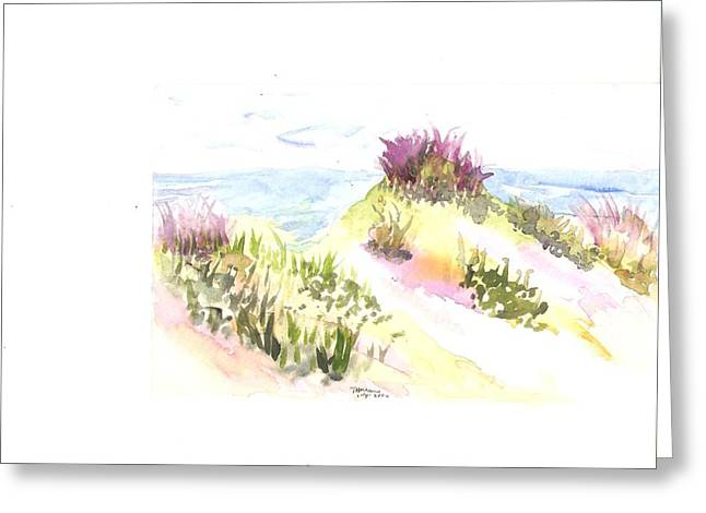 Seaside Shrubs Greeting Card by Thelma Harcum