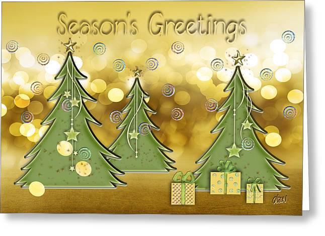 Season's Greetings Greeting Card by Arline Wagner