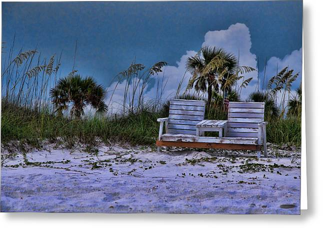 Seat On The Dunes Greeting Card