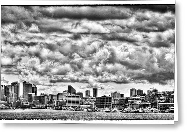 Seattle Cityscape II Greeting Card by David Patterson