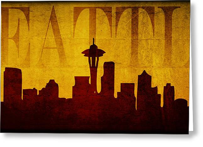 Seattle Greeting Card by Ricky Barnard