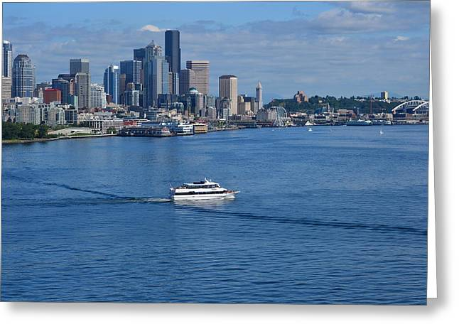Seattle Skyline 2 Greeting Card