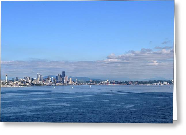 Seattle Skyline 4 Greeting Card