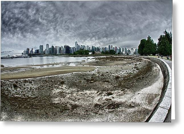 Greeting Card featuring the photograph Seawall To Vancouver by Scott Holmes