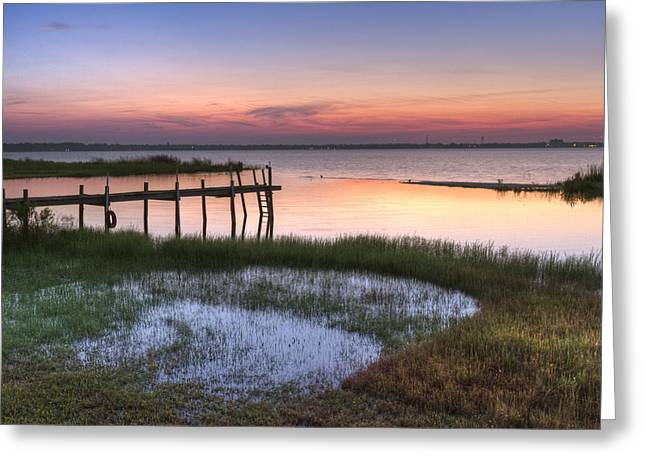 Sebring Sunrise Greeting Card by Debra and Dave Vanderlaan