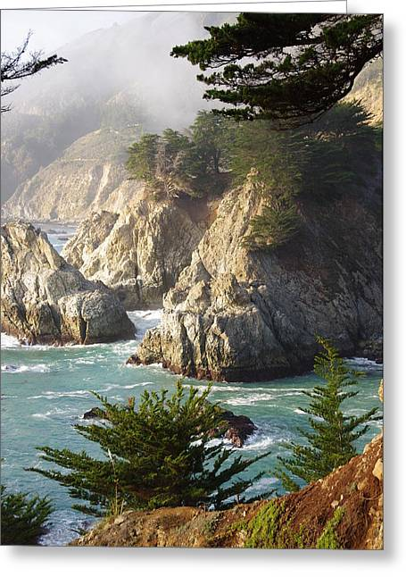 Secluded Big Sur Cove 1 Greeting Card by Jeff Lowe