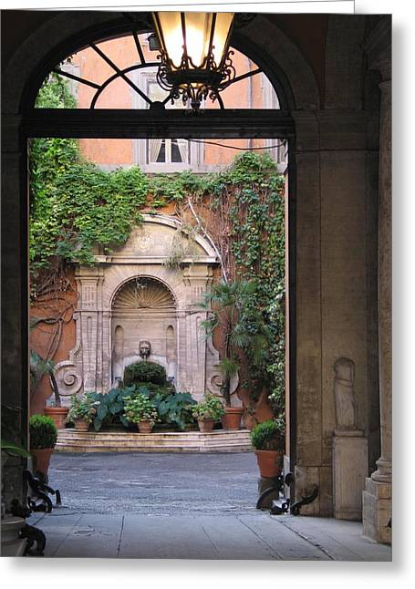 Secret View In Rome Greeting Card