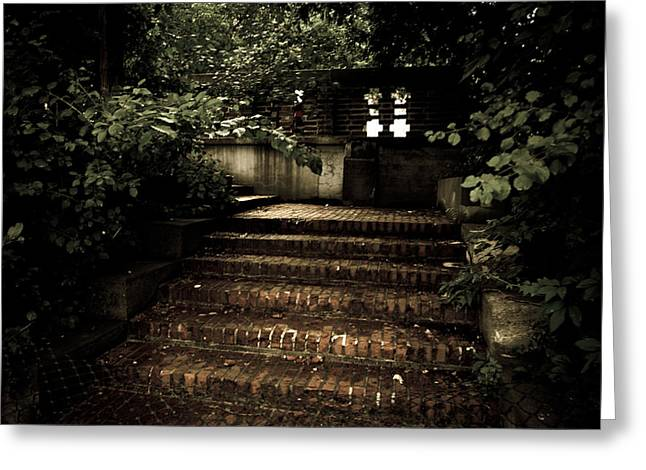 Greeting Card featuring the photograph Secret Way by Jason Naudi Photography
