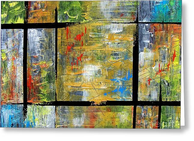 Secret Windows Greeting Card by Jose Miguel Barrionuevo