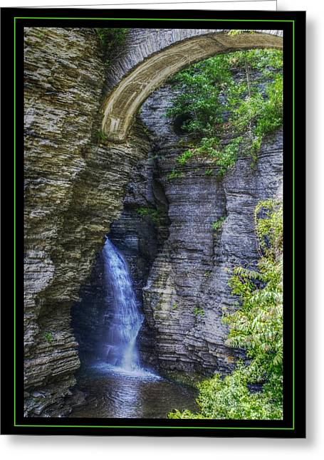 Secrets Of Watkin's Glen Greeting Card by Matthew Green