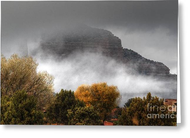 Greeting Card featuring the photograph Sedona Fog by Tam Ryan