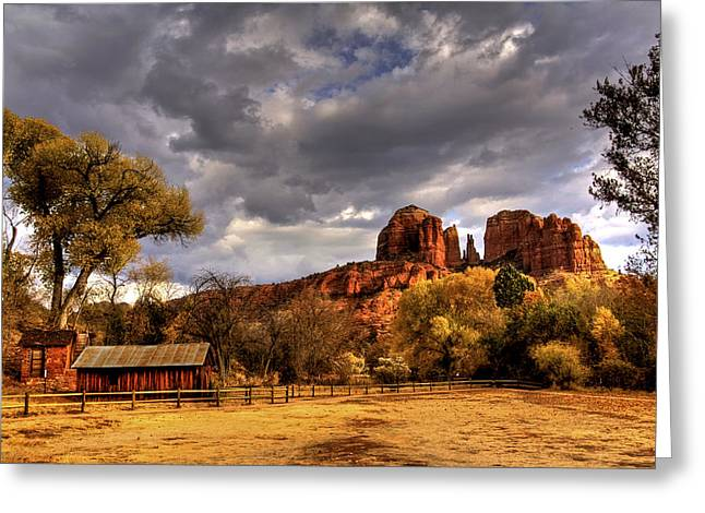 Sedona Greeting Card by Marvin Walley