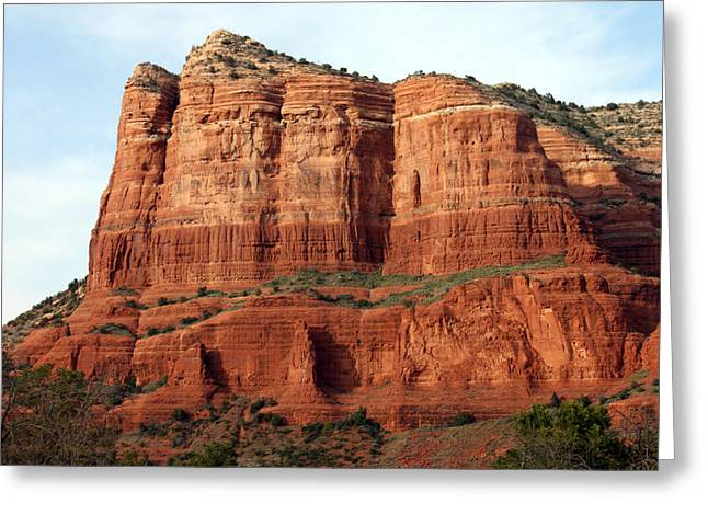 Sedona Red Greeting Card by Debbie Hart