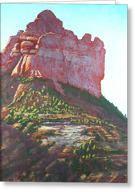 Sedona Shadows Greeting Card by Drusilla Montemayor
