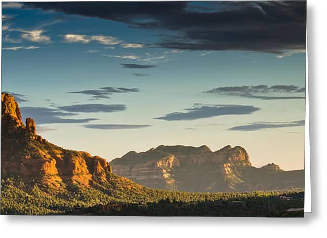 Sedona Sunset Greeting Card by Scott Faunce