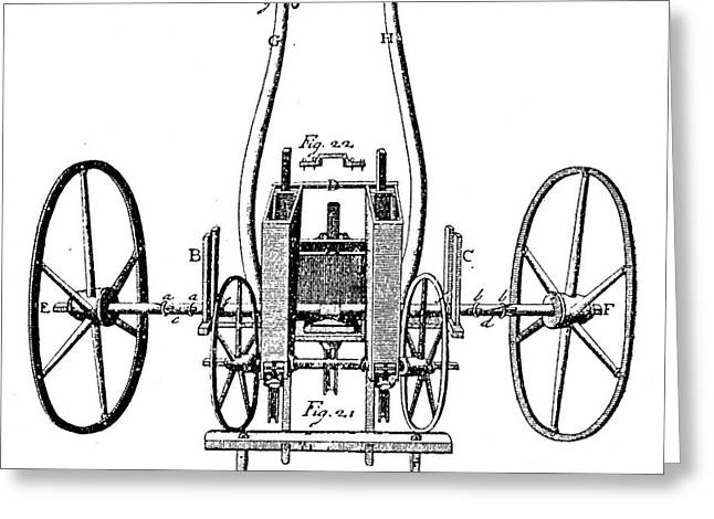 Seed Drill, 18th Century Greeting Card