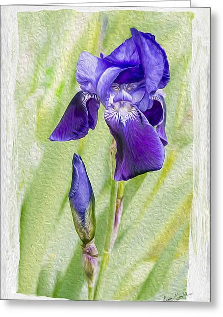 Seeing Purple Greeting Card