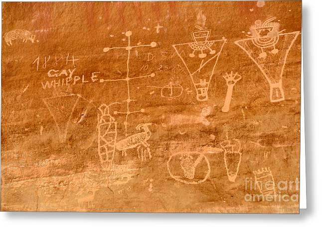 Sego Canyon Petroglyphs Greeting Card