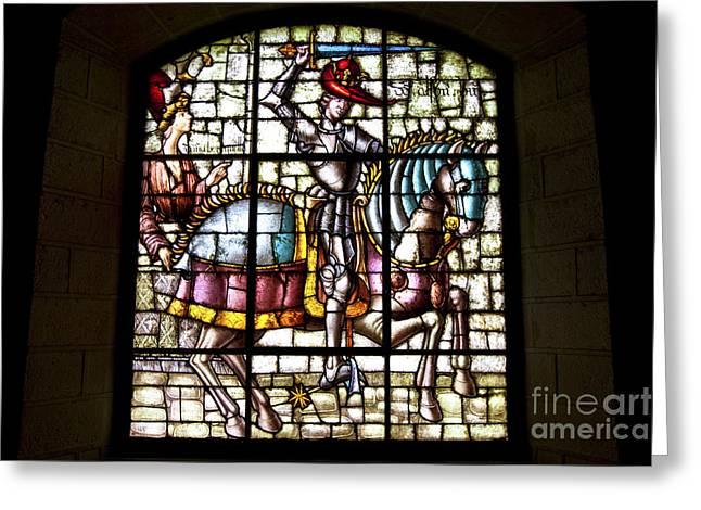 Segovia Alcazar Glass Greeting Card by Scotts Scapes