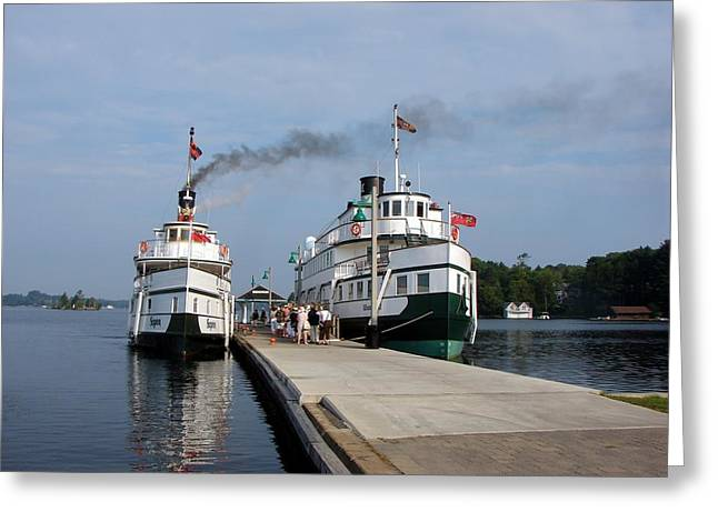 Seguin And Winona At Gravenhurst Greeting Card by Bruce Ritchie