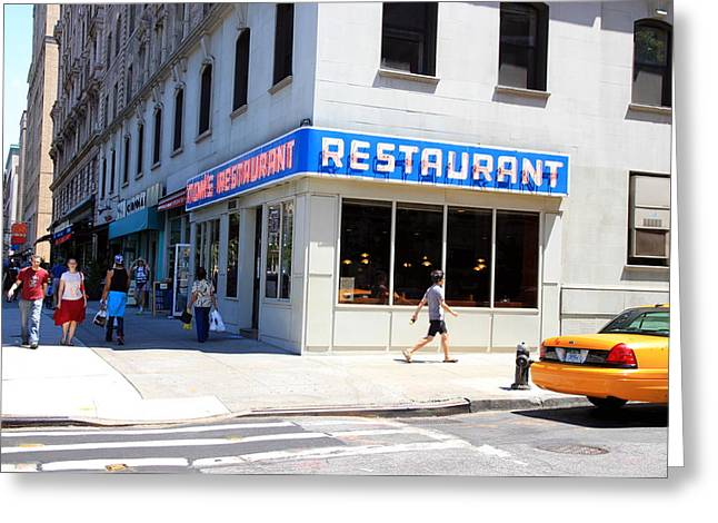 Seinfeld Diner Location Greeting Card by Valentino Visentini