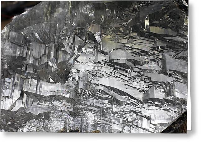 Selenite Mineral Sample Greeting Card by Dirk Wiersma