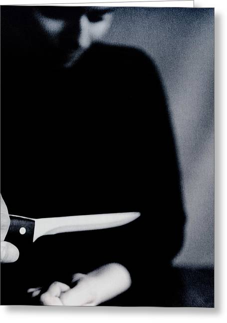 Self Harm Greeting Card by Cristina Pedrazzini