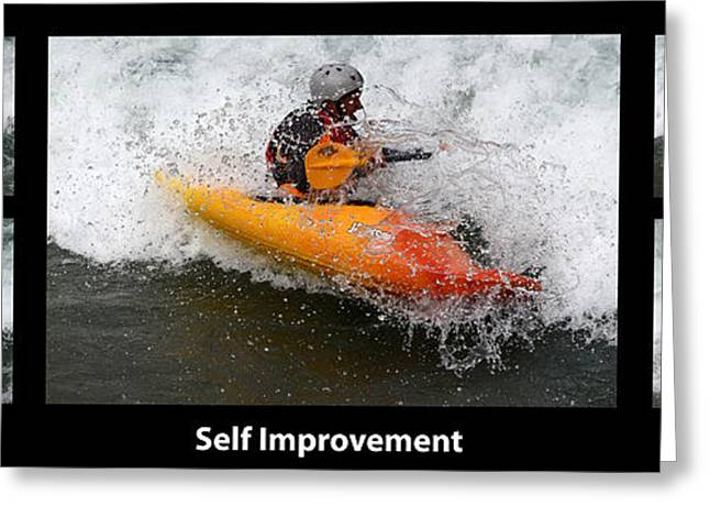 Self Improvement With Caption Greeting Card by Bob Christopher