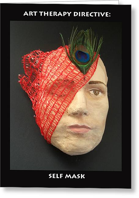 Self Mask Greeting Card by Anne Cameron Cutri