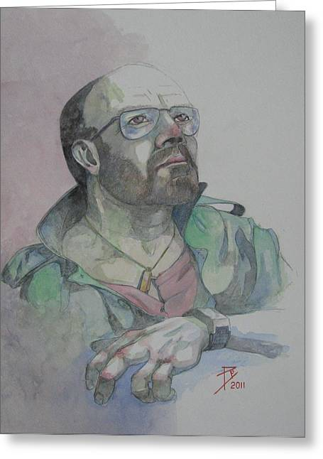 Self-portrait 2005 Greeting Card by Ray Agius