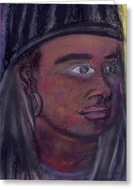 Self Portrait From 2010 Greeting Card by Cecelia Taylor-Hunt