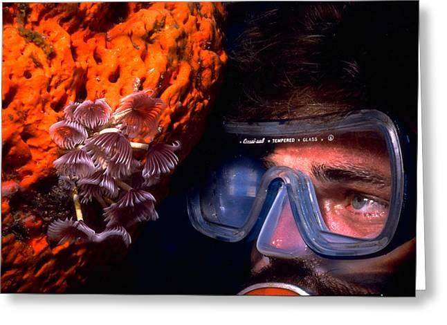 Self Portrait On Snowfields Reef Greeting Card