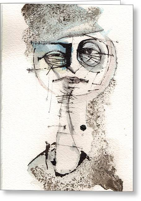 Self Portrait With Fedora Greeting Card by Mark M  Mellon