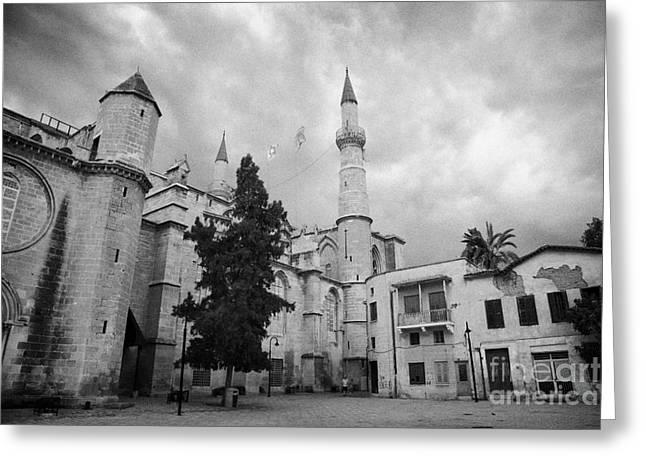Selimiye Mosque Formerly Saint Sophia Cathedral Nicosia Lefkosia Trnc Turkish Cyprus Nicosia Greeting Card by Joe Fox