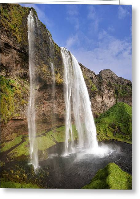Seljalandsfoss Greeting Card by Wade Aiken