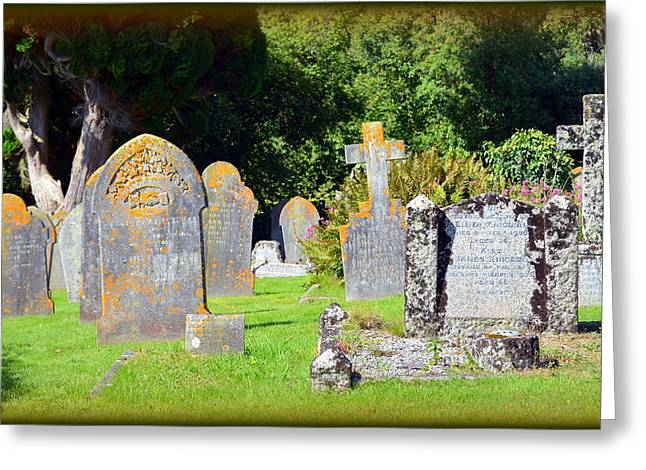 Selworthy Graveyard Greeting Card by Carla Parris
